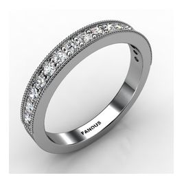 14k White Gold Wedding Band 0 368cts SKU: 0300860-14kw