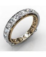 14k White Gold Wedding Band 1.279cts SKU: 0301081-14kw