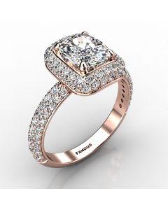 Rose Gold Engagement Ring 1.308cts SKU: 0201045-rose