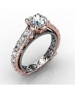 Rose Gold Engagement Ring 1.104cts SKU: 0201099-rose