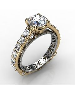 18k Yellow Gold Engagement Ring 1.104cts SKU: 0201099-18ky