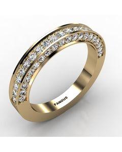 18k Yellow Gold Wedding Band 0.917cts SKU: 0300809-18ky