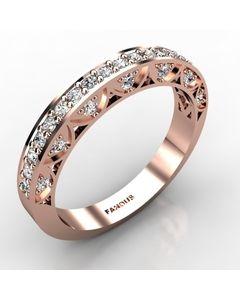 Rose Gold Wedding Band 0.472cts SKU: 0300827-rose