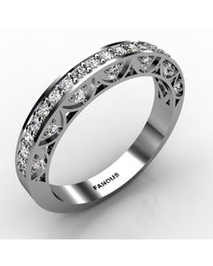 18k White Gold Wedding Band 0.472cts SKU: 0300827-18kw