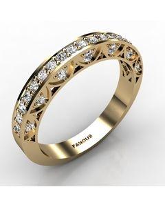 18k Yellow Gold Wedding Band 0.472cts SKU: 0300827-18ky