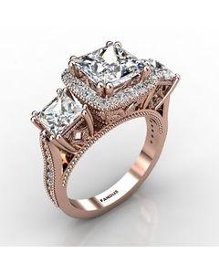 Rose Gold Diamond Ring 1.498cts SKU: 1003211-rose