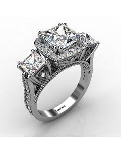 18k White Gold Diamond Ring 1.498cts SKU: 1003211-18kw