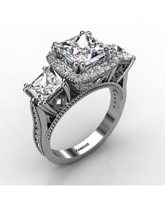 14k White Gold Diamond Ring 1.498cts SKU: 1003211-14kw
